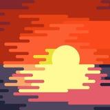 Peinture d'égoutture de coucher du soleil illustration libre de droits
