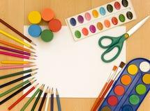 peinture d'accessoires images stock