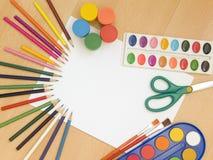 peinture d'accessoires photo libre de droits