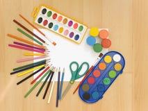 peinture d'accessoires image stock