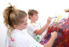 Peinture d'amis Photo stock