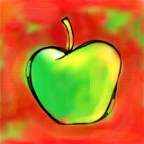Peinture d'Apple illustration stock
