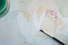 Peinture d'aquarelle image stock