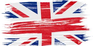 Peinture d'aquarelle de drapeau BRITANNIQUE illustration stock