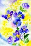 Peinture d'aquarelle des fleurs Photographie stock libre de droits