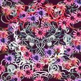 Peinture d'aquarelle et peinture numérique Aquarelle peignant la PA illustration de vecteur