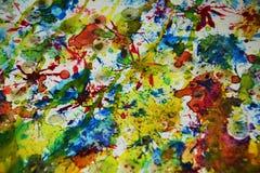 Peinture d'aquarelle, fond créatif d'aquarelle cireuse de peinture Photos stock