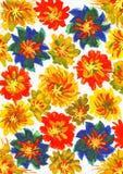 Peinture d'aquarelle. fond de fleur Photographie stock