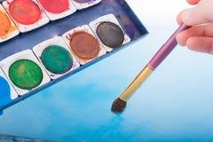 Peinture d'aquarelle se dissolvant dans l'eau photo libre de droits