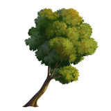 peinture d'arbre Images stock