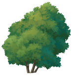 peinture d'arbre Image libre de droits