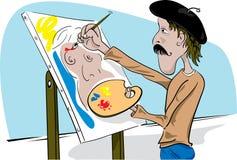 Peinture d'art Images stock