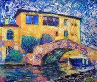 Peinture d'art abstrait Images stock