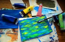 Peinture d'art abstrait Photos libres de droits