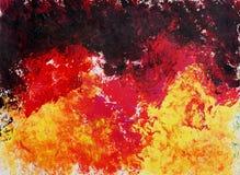 Peinture d'art abstrait Fond de trame Photos stock