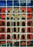 Peinture d'art de Digital - vieux bâtiment d'architecture illustration libre de droits