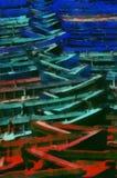 Peinture d'art de Digital - vieux bateau d'architecture illustration de vecteur