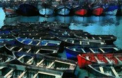 Peinture d'art de Digital - vieux bateau d'architecture illustration libre de droits
