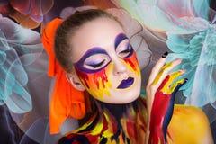 Peinture d'art de femme Images libres de droits