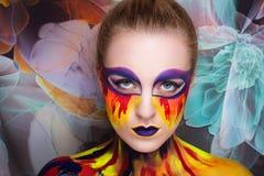 Peinture d'art de femme Photo libre de droits