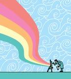 Peinture d'artiste sur la toile illustration libre de droits