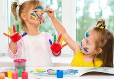 Peinture d'enfants Photos stock