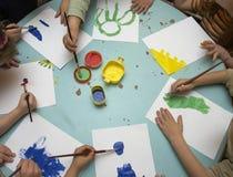 peinture d'enfants image stock