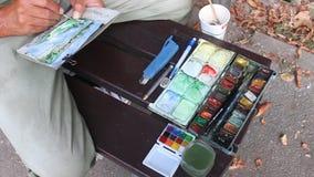 Peinture d'homme Photographie stock