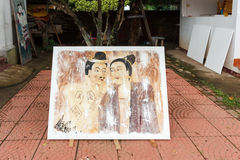Peinture d'homme de Ya d'homme d'unité centrale Photographie stock libre de droits