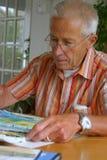 Peinture d'homme plus âgé Image libre de droits