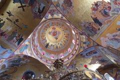 Peinture d'icône dans la grande cathédrale Photos stock