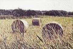 Peinture d'impressionisme : Vue de campagne Photo libre de droits