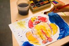 Peinture d'un chien Images libres de droits