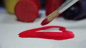 Peinture d'un coeur banque de vidéos