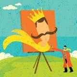 Peinture d'un futur autoportrait Image libre de droits