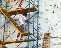 Peinture d'un mur à Lima, le Pérou Photos libres de droits