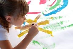Peinture d'un tableau Photo libre de droits