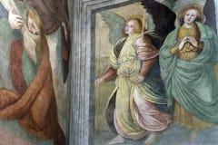 Peinture dans l'église de Sant'Ambrogio (Milan) Photographie stock libre de droits