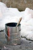 Peinture dans l'horaire d'hiver Images libres de droits