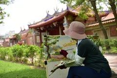 Peinture dans les aquarelles Image stock