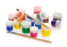 Peinture dans les pots, se tenant aléatoirement Image stock