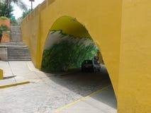Peinture dans un tunnel dans le secteur de Barranco de Lima Photo libre de droits