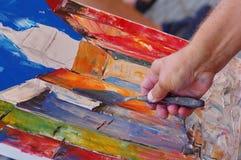 Peinture de 2 Images libres de droits