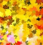 Peinture de brosse d'éclaboussure d'abrégé sur peinture de Digital dans différentes nuances d'Autumn Tree Leaves Colors Backgroun illustration stock