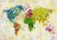Peinture de carte du monde illustration de vecteur