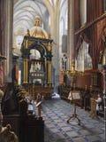 Peinture de cathédrale de Wawel - Cracovie - Pologne Images libres de droits