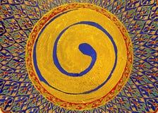 Peinture de cercle de ZEN d'or photo stock