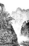 Peinture de chinois traditionnel, paysage Images libres de droits