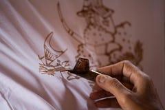 Peinture de cire Photo libre de droits
