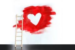 Peinture de coeur Photos stock